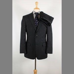 Hugo Boss 38R 34x32 Flat Gray Suit B083